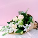 Bouquet - White Roses and Green Delight
