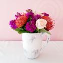 Posie - Pink Roses with orange flower