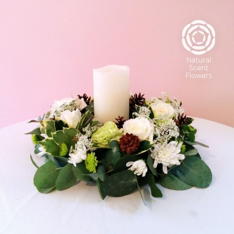 Table Wreath with Candle