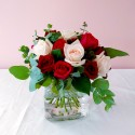 Roses - Variety of Roses in a Cube Vase