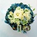 Easter Flowers Arrangement - Ornaments and Fabergé eggs and Vegan Chocolate