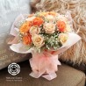 Bouquet - 20 Roses in peach theme in a vase